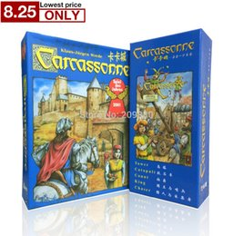 Wholesale 2016 english carcassonne basic expansion the river tower catapult count king chaser board game card game english party game