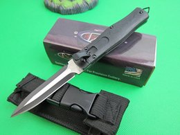 Wholesale Microtech Cobra oss Side open single action HRC Cr17Mov blade G10 handle outdoor gear rescue Tactical Camping pocket knife knives