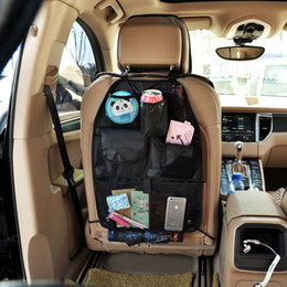 Wholesale Big discount Waterproof car seat back hanging storage bag folding storage box car storage bag Car Back Seat Pocket Arrangement Chair Bag DHL
