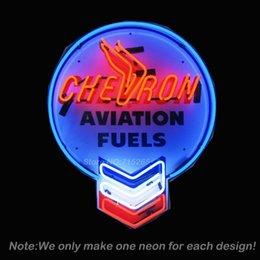 Wholesale Neonetics CHVRN Chevron Aviation Fuels Neon Sign Beer Display Handcraft Glass Tube Neon Bulb Recreation Room Neon Signs x30