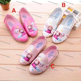 Hot Sale 3 Color Girl Frozen princess PU Shoes 2015 new Children Fashion Lovely Cartoon Elsa and Anna pu antiskid Shoes