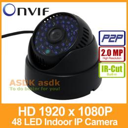 Promotion dôme intérieur caméras ip FHD intérieure 1920 Caméra x 1080p 2.0MP Caméra IP 48 LED de sécurité IR Dome ONVIF Night Vision P2P CCTV IP Cam avec IR-Cut
