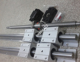Wholesale 2sets SBR16 mm LINEAR RAIL block ballscrew RM1605 mm end machine Ball Screws BK BF12 end support coupler mm
