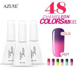 Azure Chameleon Temperature Changing Color 800pcs lot DHL FEDEX Soak off Gel Polish Set UV Gel Kit Manicure Gel Polish free shipping