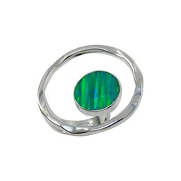 Opal 925 Silver Rings Queen Green Color Solitaire Wedding Rings Adjustable Solitaire Ring Designs for Ladies R948 online