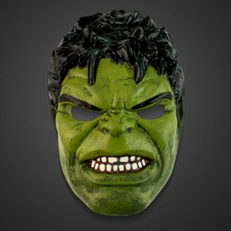 Wholesale Disguise Avengers Hulk Adult Latex Deluxe Costume Mask Adults Children s Invincible Hulk Mask For Children s Day Animated Cartoon Party And