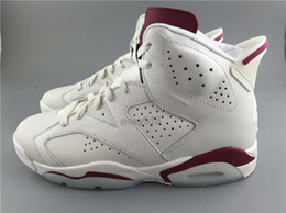 High Quality (With Box) 2015 New Retro 6 Maroon White Red Men Basketball Shoes 6s Cheap Sport Sneakers Trainers Mens Shoes 6s for sale