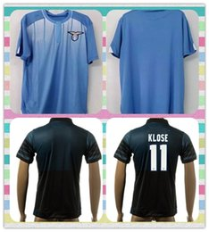 Wholesale New Thailand Thailand Champions Lazio Klose Ederson Basta Anderson Blue rd Soccer Jersey Full shirt