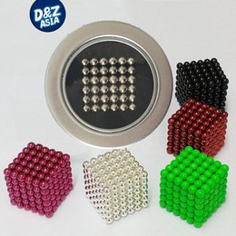 Wholesale-5mm 216pcs set Magnetic Balls toys Puzzle Magnet Block Cubo Magico Toys with Tin metal Box DIY toys