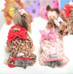 Wholesale Hug Me New Dog Apparel Pets Supplies Winter Leopard Japanese Kimono Big Bowknot Flower Dogs Doggy Doggie Hooded Apparel Xmas Gift BB