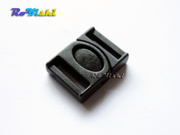 "100pcs pack 1 2""(13mm)Black Plastic Side Release Center Buckles Backpack Straps Webbing"