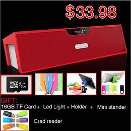 Wholesale GET G TF card FREE Nizhi SDY Sardine Best HIFI Bluetooth Speaker with FM Radio Stereo Sound Box MIC Mini Portable Speaker