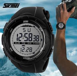 Hommes robe gros de montre à vendre-2015 Military Watch New Skmei Marque Hommes LED Digital 50M Dive Swim Dress Sport Montres Mode Montres Outdoor gros G-W1090