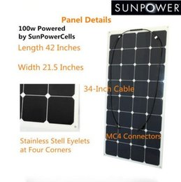 Wholesale 100w Custom made black backing semi flexible solar panel for boats sail boat yacht