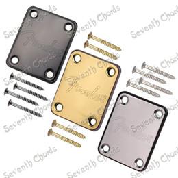Wholesale 1 High Quality Guitar Neck plates for Guitar Bass Chrome Gold Black FDLG JQB CR