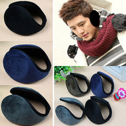Wholesale-Men's Women's Fleece Earmuff Winter Ear Muff Wrap Band Warmer Grip Earlap Gift