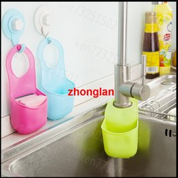 Wholesale Buy object hanging basket sink drop pocket multi functional kitchen bathroom toilet soap storage rack newest storage basket with handle