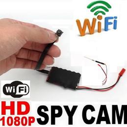 2016 micro cámara espía oculto Vigilancia micro mini Wifi Detección de movimiento Full HD 1080P P2P IP inalámbrica espía cámara oculta leva de bricolaje para la PC móvil rápida DHL barato micro cámara espía oculto