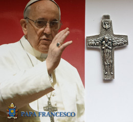 New Arrival 316L Stainless Steel Papa Pope Francis Pectoral CROSS Crucifix Pendant Necklace -Blessed by Pope Francis