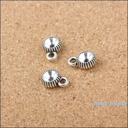 Wholesale 100 Vintage Charms Drilling cap Pendant Antique silver Fit Bracelets Necklace DIY Metal Jewelry Making metal love charm