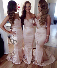 2016 Sexy Sweetheart Lace Bridesmaid Dresses Topped Mermaid Bridal Gowns Cheap Plus Size Dresses For Wedding