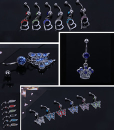 2017 Hot Sale Gem Navel Belly Rings Belly Button Rings Piercing Body Jewelry Gift Navel Ring Sexy Body Jewelry Piercings