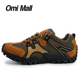 Wholesale New Arrival Men Hiking Shoes Air Mesh Surface Breathable Men Outdoor Shoes Fashion Climbing Walking Trekking Shoes For Men