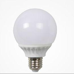 New arrival 360° beam angle E27 base round bulb energy saving light white and warm white PC shell