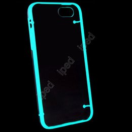 Wholesale Transparent Luminous Light Up Glow In The Dark TPU Hard Case Ultra Thin Cover Silicone Skin for iPhone quot Plus quot DHL