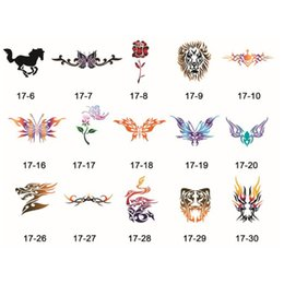 Wholesale Abstract Designs Self Adhesive Body Art Temporary Tattoo Airbrush Stencils Template Books of Butterfly and Animals Booklet