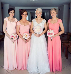 Water Melon Long Bridesmaid Dresses Capped Sleeves Sweetheart Ruffled Floor Length Semi Formal Dresses Plus Size Dress Guest New 2016