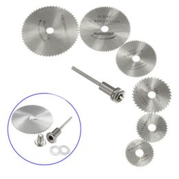 6Pcs Cutoff Circular Saw HSS Rotary Blades Tool Cutting Discs Mandrel For Dremel