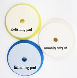6'(158mm-180mm)GERMAN MAETRIAL Rupess style foam solf puff polish foam pad 1lot 3pcs(1compounding cutting pad 1polishing pad 1 finishing pad