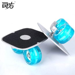 Wholesale hot sale brand new freeline skates Drift board flash wheel Aluminium Alloy small plate board deck with bag by post