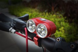 Wholesale 2015 New Waterproof Aluminum LED Bike Light Lumen x CREE XM L T6 LED Bicycle Lamp mAh Battery EU US UK AU Charger