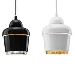 Wholesale New Alvar Aalto Artek Pendant Lights A330 Led Suspension Lamps Dia mm DC V V W E27 IKEA Simple Pendant Lamps