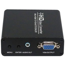 Wholesale HopCentury HD Video Converter MHL HDMI to VGA Auto Scaler Adapter for Blu ray DVD Game Player Satellite Receiver Smart Phone