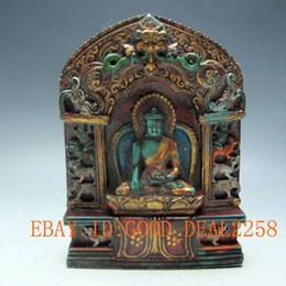 Wholesale Old Tibet Tibetan Turquoise Buddha Statue Good luck