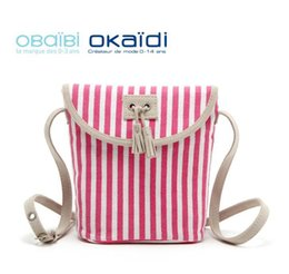 Wholesale H1549 sweet girl sport CANDY MINI SIZE Red White Stripe Canvas sling bag Messenger Bags Cross Body