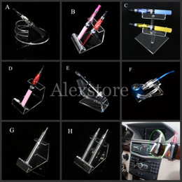 Wholesale Acrylic e cig display clear stand shelf holder vape car rack for vapor ego battery e pipe ecig mech mod mechanical e cigarette