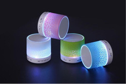 Wholesale NEW H08UA Bluetooth Speaker Mini Portable With Beautiful LED Light Support FM Radio TF Card for Smart Phone DHL