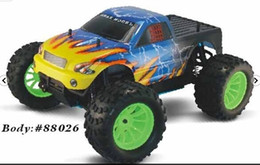 Wholesale DHL free HSP Nitro Powered Monster Truck th Scale WD racing rc car Off Road Pivot Ball Monster Truck