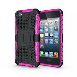 For Ipod Touch 6 6G 6th 5 5G 5th Touch6 Touch5 Rugged Kickstand Spider Fashion Hard Heavy Duty Armor TPU+ Hard Case Shockproof Square Skin