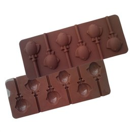 Wholesale Silicone Cake Pops Mould Maker Baking Set Lollipop Sticks Pop Mold Cooking Candy Chocolate Fish D685