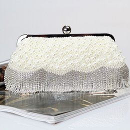 Factory Retaill Wholesale brand new handmade pretty diamond evening bag beaded bag with satin for wedding banquet party porm