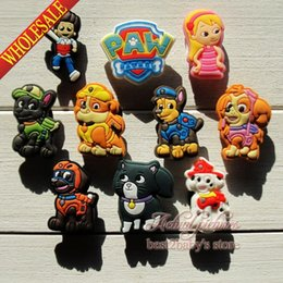 Wholesale Hot Sale New Mixed Paw Patrol PVC SHOE CHARMS For shoe charms wristbands Shoe Ornaments accessories for shoe wristband party gifts