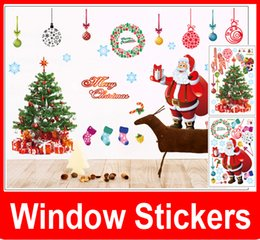 Wholesale New Removable Merry Christmas Xmas Decor Snowflakes Ring Art Vinyl Stickers Wall Windows Decal Decoration Wallpaper dandys