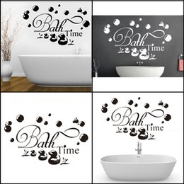 Wholesale Hot Sale Bath Time Ducks Soak Relax Quote Wall Sticker Removable Decals Bathroom Decor Art Wall Stickers