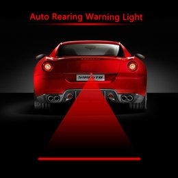 Wholesale LED car laser fog light rear tail warning lamp external automobiles car styling automotive safe driving parking waterproof V