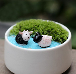 Wholesale sheep fairy garden gnome animals moss terrarium home desktop decor crafts bonsai doll house miniatures DIY c013